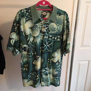 ❣️HP❣️Tommy Bahama Men Polo Shirt Floral Cotton M